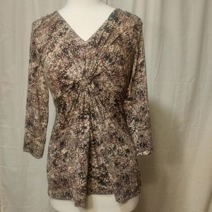 Daisy Fuentes Long Sleeve Top Size Medium